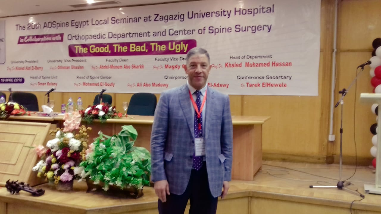 الدكتور محمد الصوفي رئيس مركز العظام لجراحات العمود الفقري
