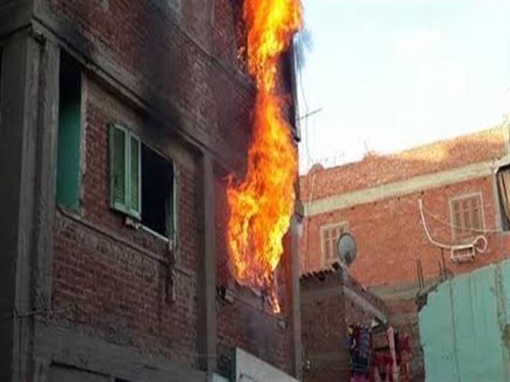 زوج يشعل النيران في المنزل بالشرقية