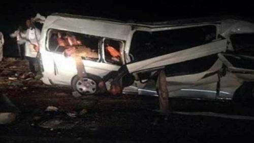 إصابة 11 شخص في حادث تصادم مروع بالشرقية