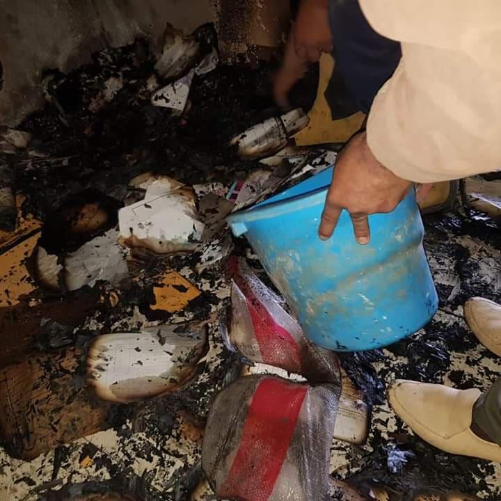 حريق بإدارة القنايات الصحية
