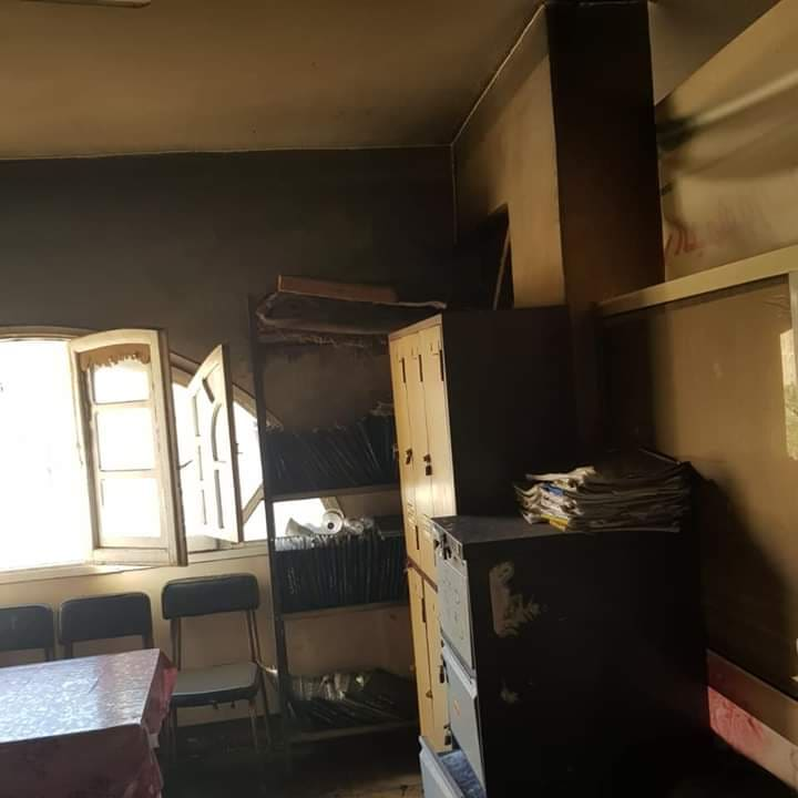 حريق بإدارة القنايات الصحية2