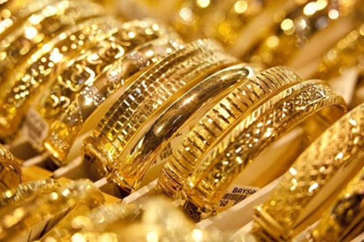 الذهب في محلات الصاغة