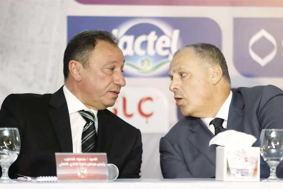 محمود الخطيب وهاني أبو ريدة رئيس اتحاد الكرة