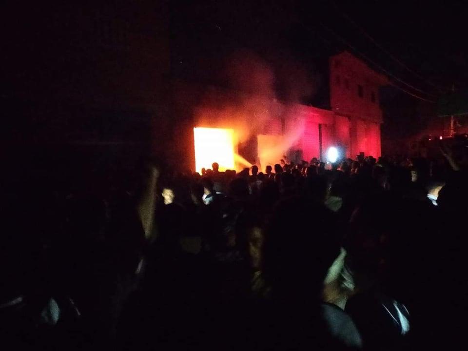 حريق مروع يلتهم ورشة نجارة بالشرقية
