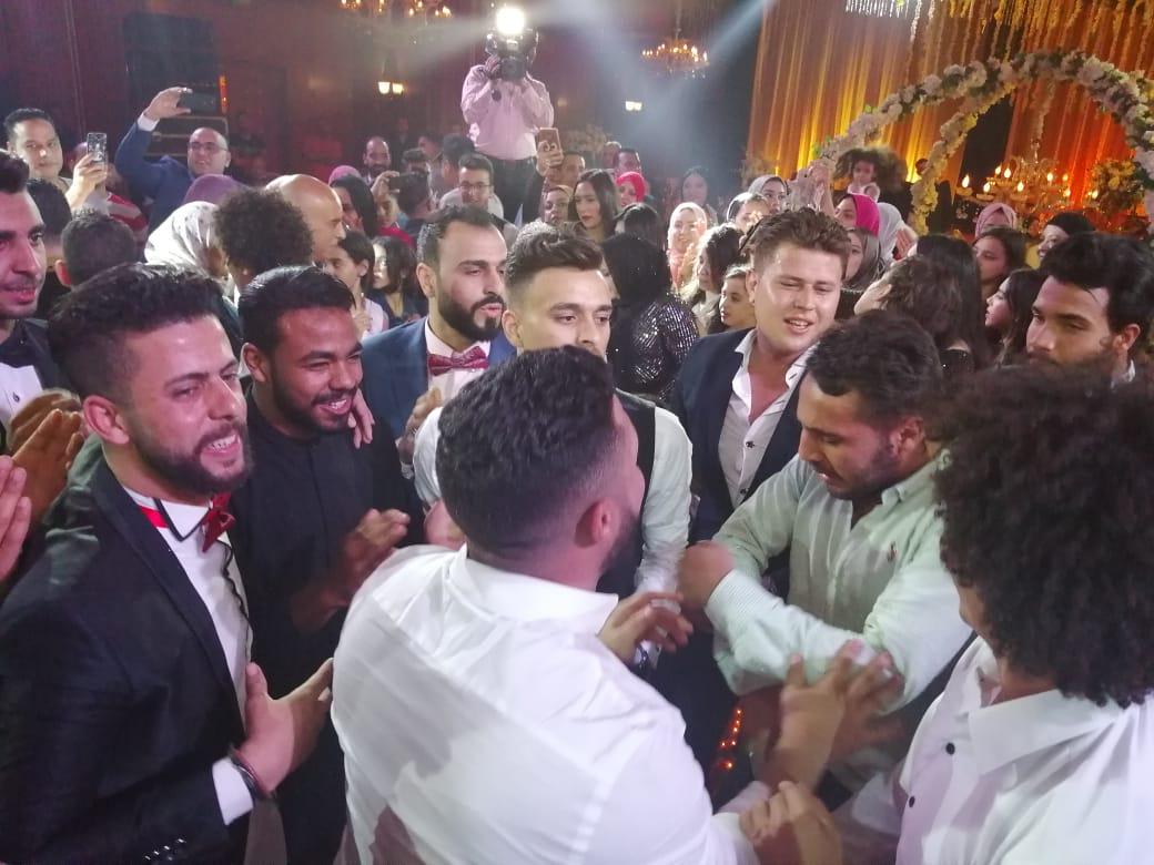 صلاح محسن ابن الزقازيق يحتفل بزفافه بحضور كوكبة من نجوم الأهلي