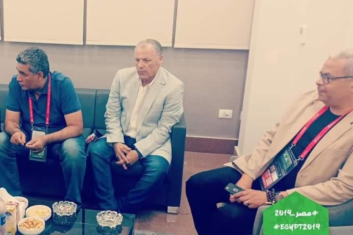 هاني أبو ريدة في أول ظهور له