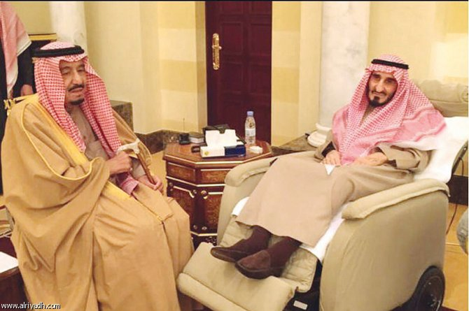 الأمير بندر مع الملك سلمان